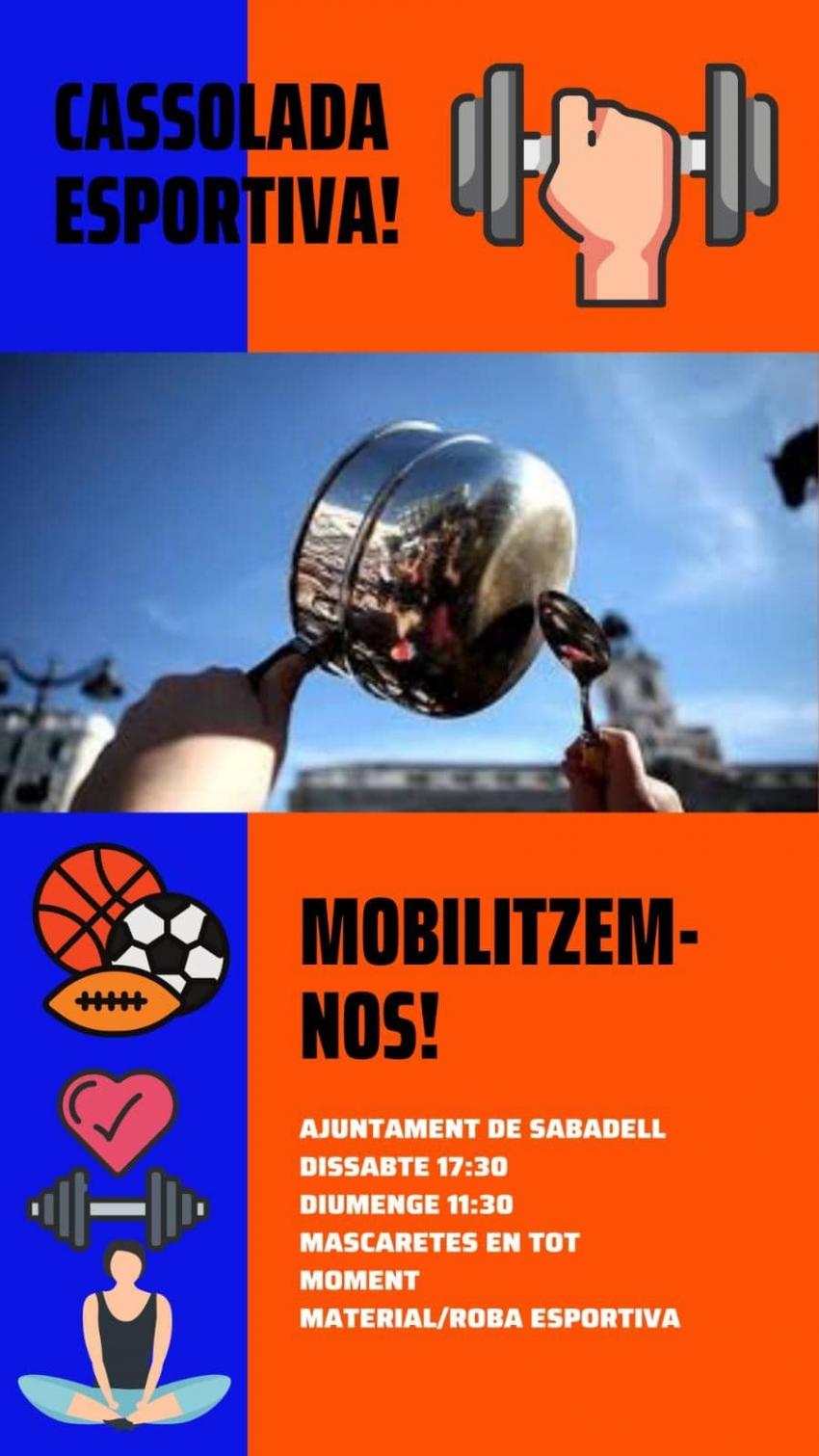 Manifestació contra el tancament dels gimnasos a Sabadell