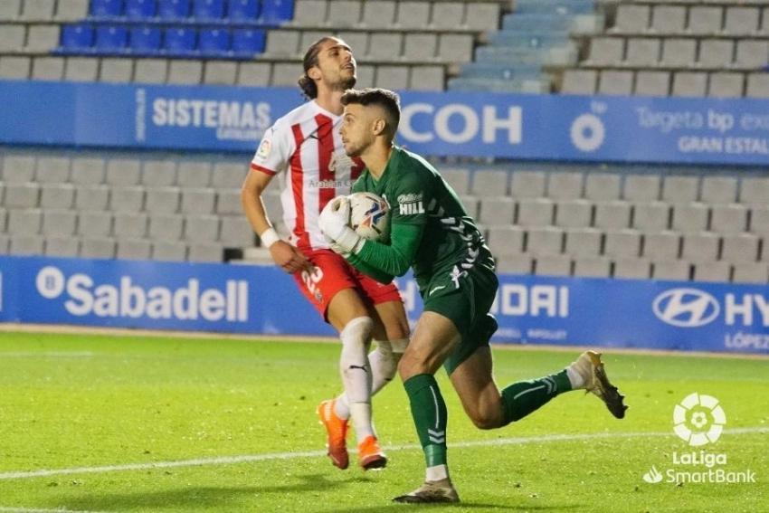 Sabadell 1 Almería 2. Jarro de agua fría en el último minuto