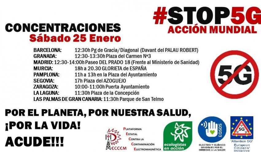 Barcelona se manifiesta este sábado contra el 5G en una concentración a nivel mundial